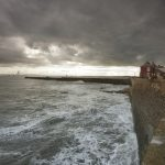 Stormy waters at Hartlepool