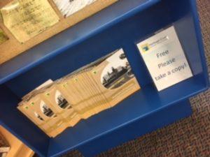 Capturing coastal memories booklets display