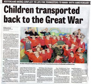 Press article somme event blackhall colliery primary