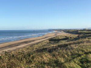 Crimdon beach banks views